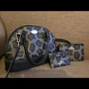Coach purse, card holder, and change pouch
